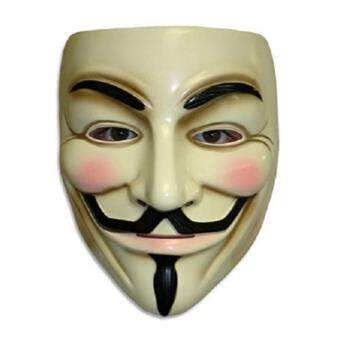 Harga Guy Fawkes Maske for Vendetta Mask Occupy Anonymous Cosplay Karneval(yellow)