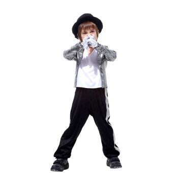 Harga Halloween COS play children dance dress performance clothing for Children sixty-one Michael Jackson costumes clothes