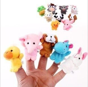 Hand puppet toys finger even Doll Baby toys small animal