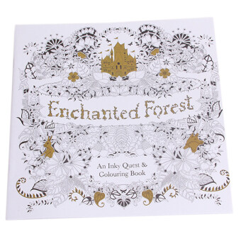 Hang Qiao Secret Garden Enchanted Forest Coloring Book