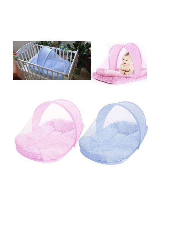 HAPPY BABY MOSQUITO SLEPPING NET WITH PILLOWblue