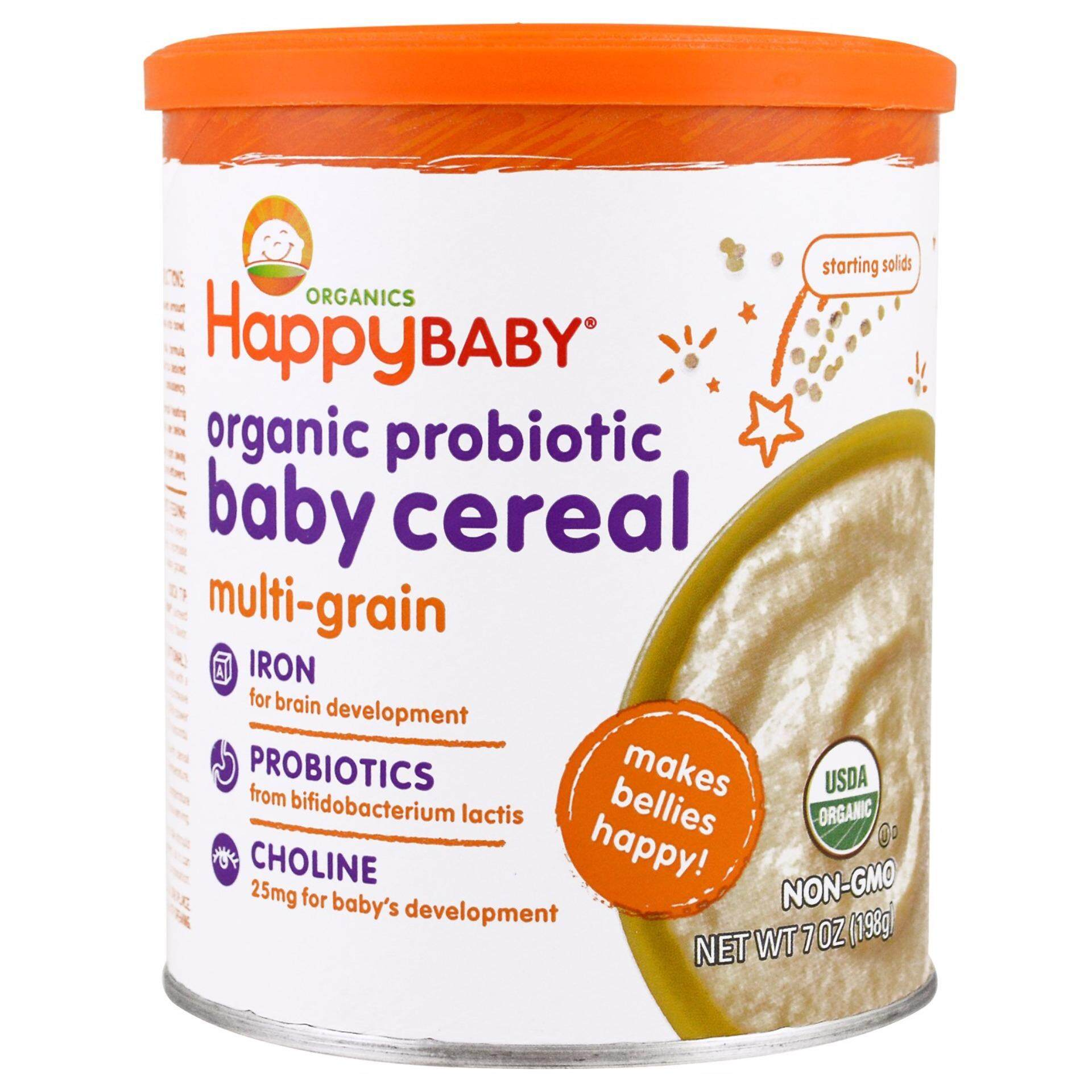 Happy Baby Organic Probiotic Baby Cereal 198gm
