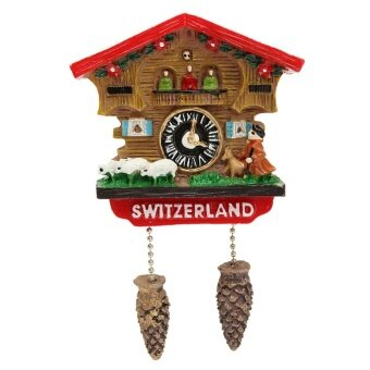 Harga High Quality Handmade 3D Resin Cuckoo Clock Travel SouvenirsCreative Refrigerator Magnetic Stickers Home Decoration Switzerland