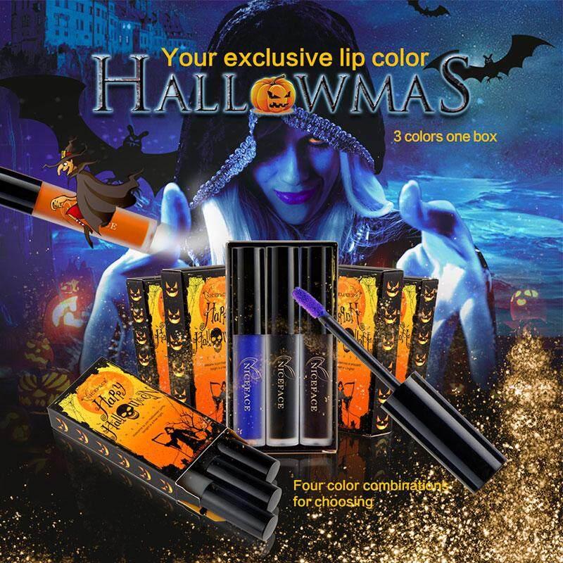 Halloween Halloween Gloss Lipstik Set Dipersonalisasi Riasan Cosmetic Warna-warni Modis-Internasional