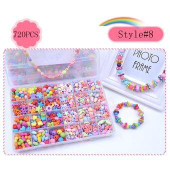 Hot Saling Toy Acrylic Beads MIX DIY Set Accessories With ElasticLine For Children Girl Kids Jewelry Making Necklace Bracelet