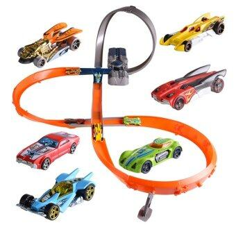 Harga Hot Wheels x2586 Roundabout Track Toy Kids Toys Plastic MetalMiniatures Cars Track Classic Antique Boy Toy Car