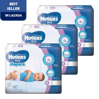 Huggies Dry Diapers S84 x 3 Super Jumbo pack