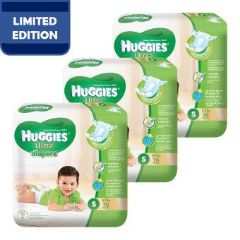 Huggies Ultra Diapers S70 x 3 Super Jumbo pack