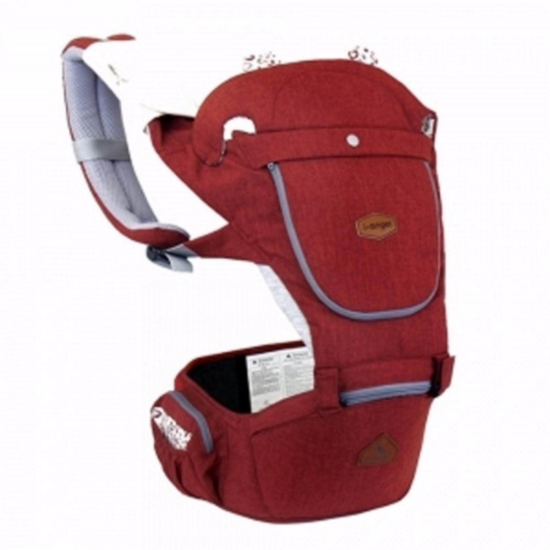 I-Angel HELLO Hip Seat Baby Carrier (Melange Red)