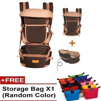 Ibaby Quality Baby Hipseat Baby Carrier Korea Brand Shoulder FREE Baby Carry Bag (Brown)