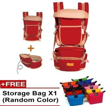 Ibaby Quality Baby Hipseat Baby Carrier Korea Brand Shoulder FREE Baby Carry Bag (Red)