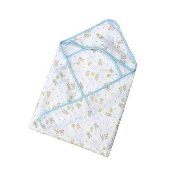 Harga ilovebaby Baby Swaddle Blanket Splash Wrap Bath Hooded Towel RobeEasy Wrapping Pattern Random (blue)