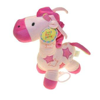 Harga ilovebaby Cute Musical Giraffe Plush Baby Crib Pram Soft Toy (Pink)