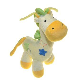 Harga ilovebaby Cute Musical Giraffe Plush Baby Crib Pram Soft Toy (Yellow)