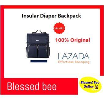 Harga Original Insular Mommy Bag / Stroller Back Pack / Diaper Bag / Mummy Backpack Lowest Price (Navy Blue)