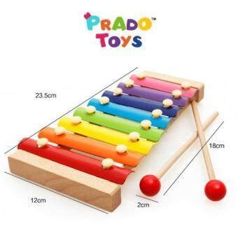 Harga PRADO TOYS Wooden Xylophone Educational Kid Baby Learning Toy WD7032