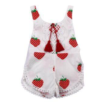 Harga Cute Baby Girls Romper Clothes Summer Sleeveless Floral Printed Jumpsuit