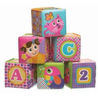 Harga PLAYGRO MY FIRST SOFT BLOCKS PINK (BATH BLOCKS)