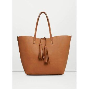 Harga Mango Tassel shopper Bag ( Brown )