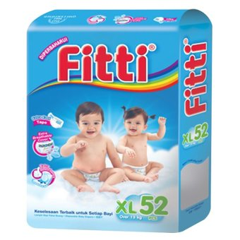Harga FITTI Tape Diaper Jumbo Pack XL52