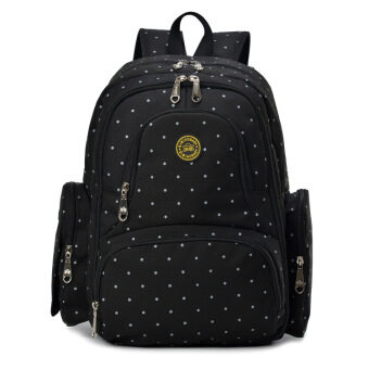 Harga 2016 New Large capacity multifunctional mummy backpack nappy bag baby diaper bags mommy maternity bag babies care product Black Dots