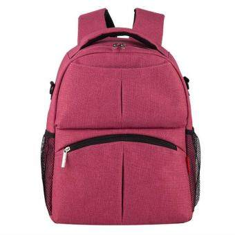 Harga Baby Diaper Backpack Multifunctional Mommy Bag Nappy Changing Mummy Backpack HOT Rose