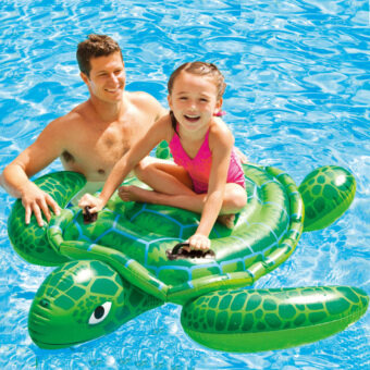 Harga Giant Inflatable Ride-On Pool Toy Float Inflatable Tortoise Swimming Pool Swim Pool Holiday Water Fun Pool Toys 150*127cm