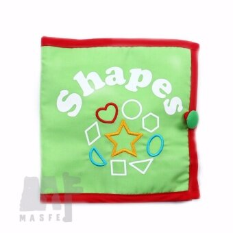 Harga Fabric Book, Quiet Book, Cloth Book - Learning Shapes, Montessori Gift, Preschooler Gifts, Birthday Gift for kids