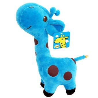 Harga okdeals Plush Giraffe Toys Animal Dear Doll Kids Gift (Blue)