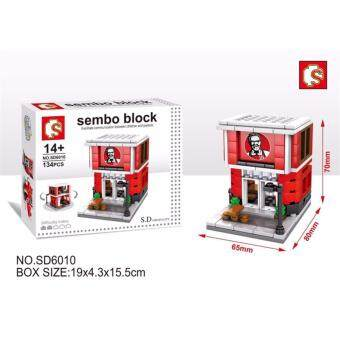 Harga Sembo Block SD6010 Fast Food mini street Building Blocks Collection