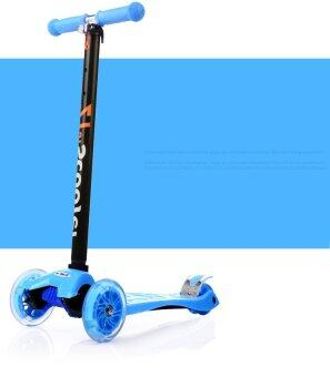 Harga 21st Scooter Height Adjustable with LED Light up Wheels - BLUE