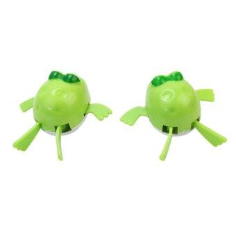 Harga BU 2pcs Bath Swim Cute Wind Up Diver Toys Swimming Frog Favor for Baby Kid Child