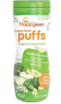 Harga Happy Baby Organic Puffs (Apple & Broccoli)