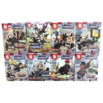 Harga 618 Falcon Commandos Terrorist Assassination (8 in 1)