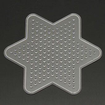 Harga Freebang Kids Small Pegboards for Perler Bead / Hama Fuse Beads Clear Square Design Board Hexagonal star
