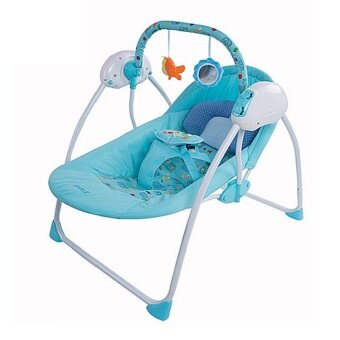 Harga New Technology Smart Baby Swing, Timer, Infant Seat - Blue