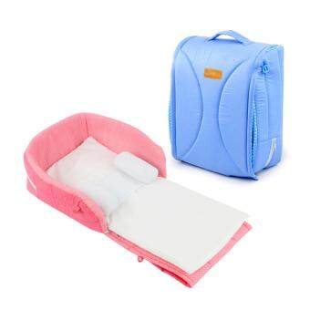 Harga NaVa Portable Baby Comfy Foldable Cot Mattress Convenient Bag (BLUE)