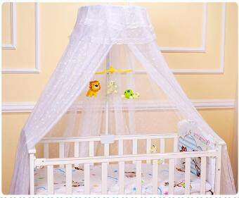 Harga QQ Crib mosquito net bed baby bed mosquito net bed children bed telescopic mosquito net White