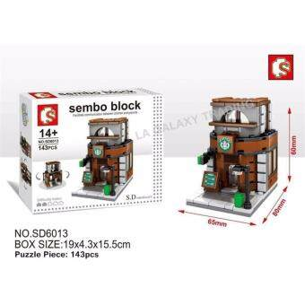 Harga Sembo Block SD6013 Coffee Shop mini street building blocks