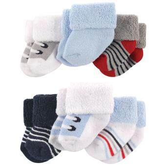 Harga Luvable Friends - Terry Sock 6pk 0- 3m Blue