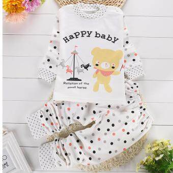 Harga Happy Baby Bear Pyjamas (Grey and Maroon)