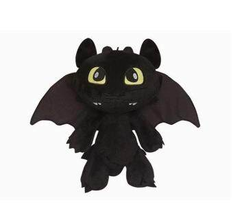 Harga 【Rdy Stock】How to Train Your Dragon - Toothless/Night Fury Soft Plush Toy 30cm