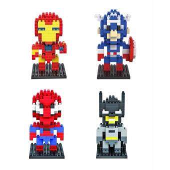 Harga Set of 4 Cute Superhero Loz Nano/Diamond Block Figure [Birthday Gift/DIY]