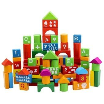 Harga Sokano Wooden Alphanumeric Building Educational Blocks