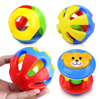 Harga 3 PCS/Set Baby Toy Fun Little Loud Jingle Ball Ring Baby Educational Toys