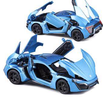 Harga New Arrival 1:32 Fast & Furious 7 Lykan Hypersport Diecast Model Car with Light & Sounds,Door Opening-Blue
