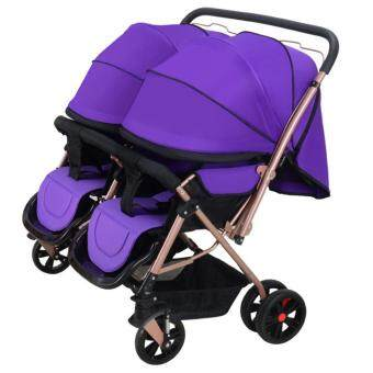 Harga 21A Twins Baby Stroller (Purple)