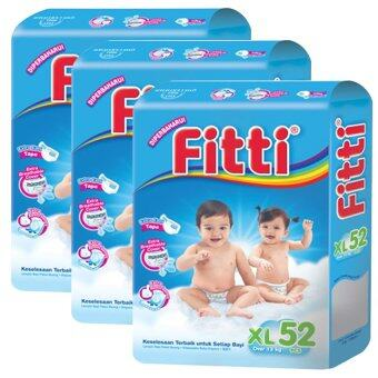 Harga FITTI Tape Diaper Jumbo Pack XL52 (3 packs)