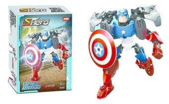 Harga 3D SuperHero Building Blocks Sets Robot Toys (Captain America)