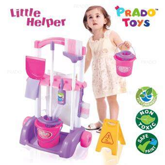 Harga PRADO Little Helper Playset Cleaner Cleaning Cart Pretend Play Toy